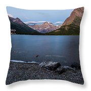 Grinnell Point Over Swiftcurrent Lake Throw Pillow