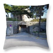 Gripe Fort Entrance Throw Pillow