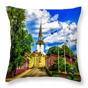 Gripsholm Church Throw Pillow