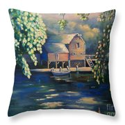 Grist Mill 2 Throw Pillow