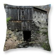 Grist Mill At Moore State Park Throw Pillow