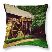 Gristmill - Charlottesville Virginia Throw Pillow