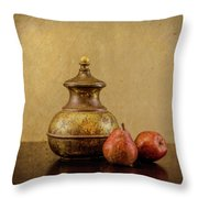 Grit And Pears Throw Pillow