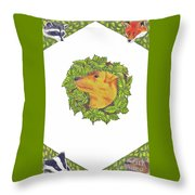Grit The Tale Of A Hunting Terrier Throw Pillow