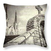 Gritty Faith Throw Pillow
