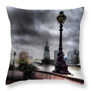 Gritty Urban London Landscape Throw Pillow