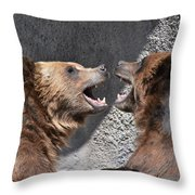 Grizzlies' Playtime 6 Throw Pillow