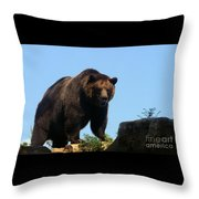 Grizzly-7747 Throw Pillow