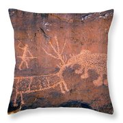 Grizzly Bear Attack Throw Pillow