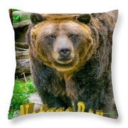 Grizzly Bear Nature Boy    Throw Pillow