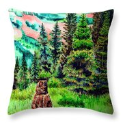 Grizzly Country Throw Pillow