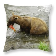 Grizzly Great Catch Throw Pillow