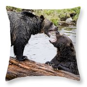 Grizzly Love Throw Pillow