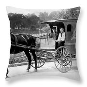 Grocery Store Buggy Throw Pillow