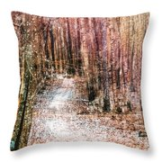 Grongarn Forest Painterly Throw Pillow