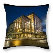 Groovy Modern Architecture One Wintry Night Throw Pillow