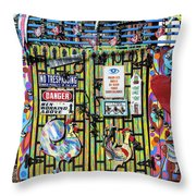 Groovy Signs Throw Pillow