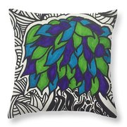 Groovy Tree Throw Pillow