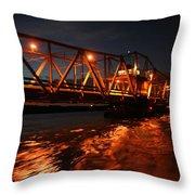 Grosse Ile Bridge  Throw Pillow