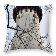 Grosse Point Lighthouse Tower Throw Pillow