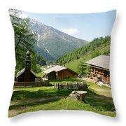Grossglockner Road Throw Pillow