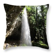 Grotto Falls Perspective Throw Pillow