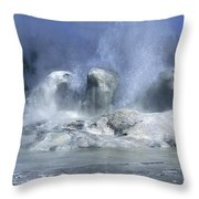 Grotto Geyser - Yellowstone National Park Throw Pillow