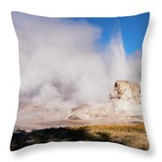 Grotto Geyser Eruption And Spray Throw Pillow