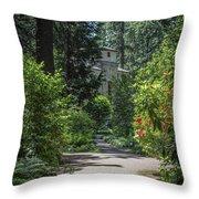 Grotto Monastery Throw Pillow