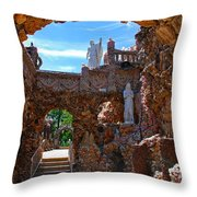 Grotto Of Redemption In Iowa Throw Pillow