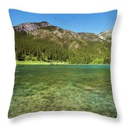 Grotto Pond Canmore Alberta Throw Pillow