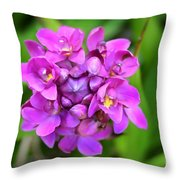 Ground Orchid Throw Pillow