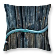 Copper Ground Wire On Utility Pole Throw Pillow