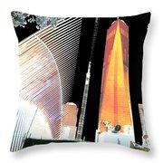Ground  Zero Freedom Tower Formerly World Trade  Centre Wtc New York Photo Taken On July 4 2015 Usa  Throw Pillow