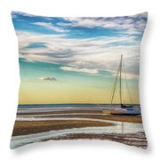 Grounded On The Beach Throw Pillow
