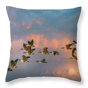 Group Flight Throw Pillow