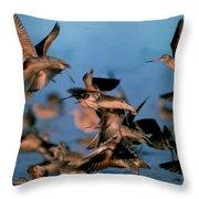 Group Flight Throw Pillow