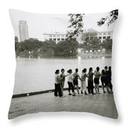 Group Massage Throw Pillow