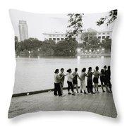Group Massage Throw Pillow
