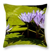 Group Of Lavender Lillies Throw Pillow