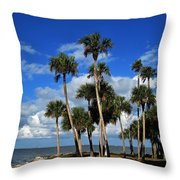 Group Of Palms Throw Pillow