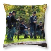 Group Of Union Soldiers Throw Pillow