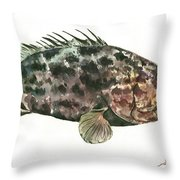 Grouper Fish Throw Pillow