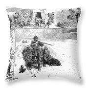 Grouse Hunting, 1887 Throw Pillow