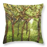 Grove Of Trees Throw Pillow