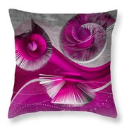 Growing Flowers With Music Pink Throw Pillow by Angelina Tamez