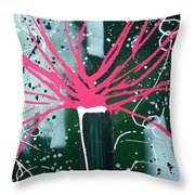 Growing In The City Throw Pillow