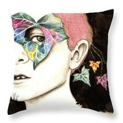 Growing Leafs Throw Pillow