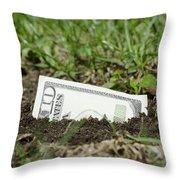 Growing Money Throw Pillow