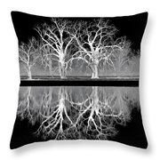 Growing Old Together - The Negative Throw Pillow